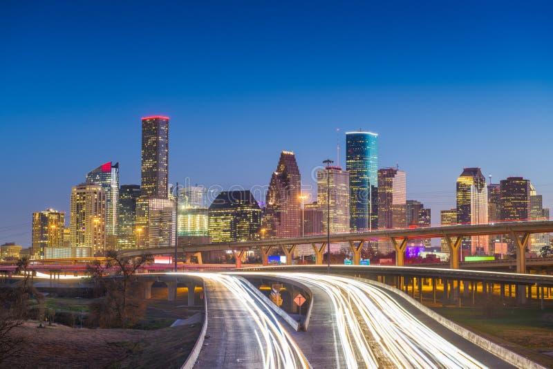 Horizon du centre de Houston, le Texas, Etats-Unis photos stock