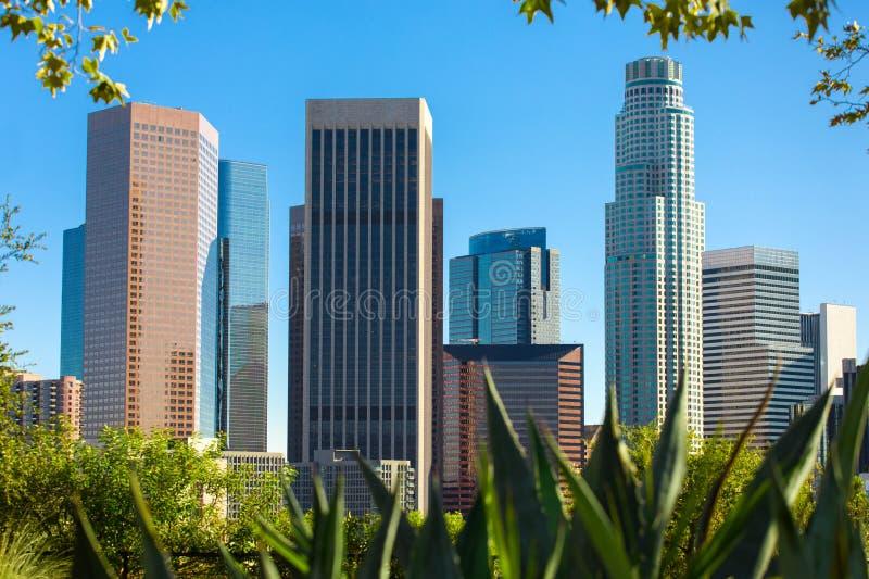 Horizon du centre de Los Angeles, gratte-ciel au centre de la ville, la Californie, Etats-Unis image libre de droits