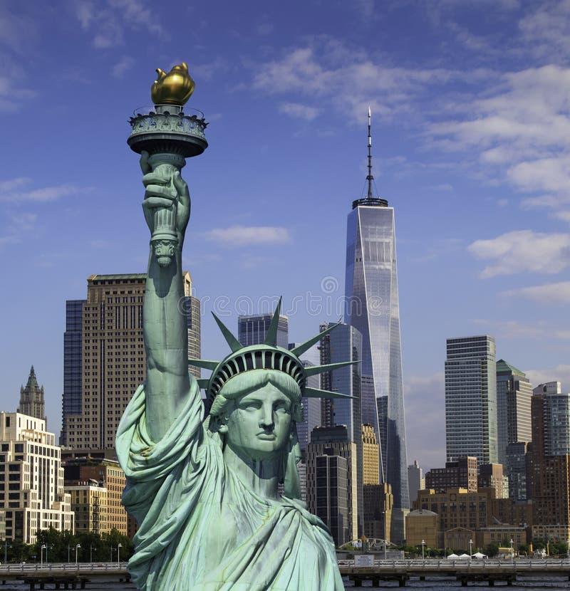 Horizon du centre de New York City Manhattan images libres de droits