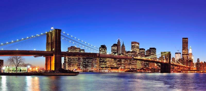 Horizon du centre de New York City Manhattan image stock