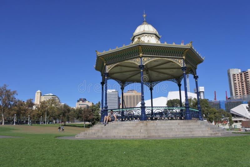 Horizon du centre de paysage urbain d'Adelaide City photographie stock