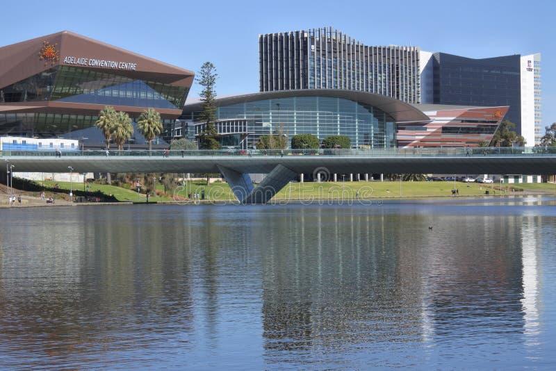 Horizon du centre de paysage urbain d'Adelaide City photographie stock libre de droits