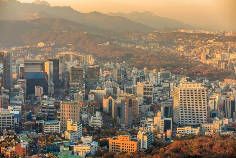 Download Horizon Du Centre De Séoul, Corée Du Sud Photo stock - Image du horizon, nuit: 56488776