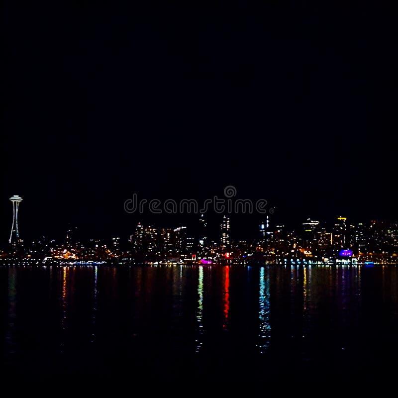 Horizon du centre de Seattle photo libre de droits