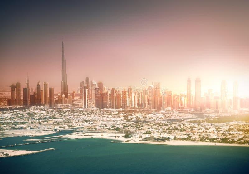 horizon du Dubaï photos stock