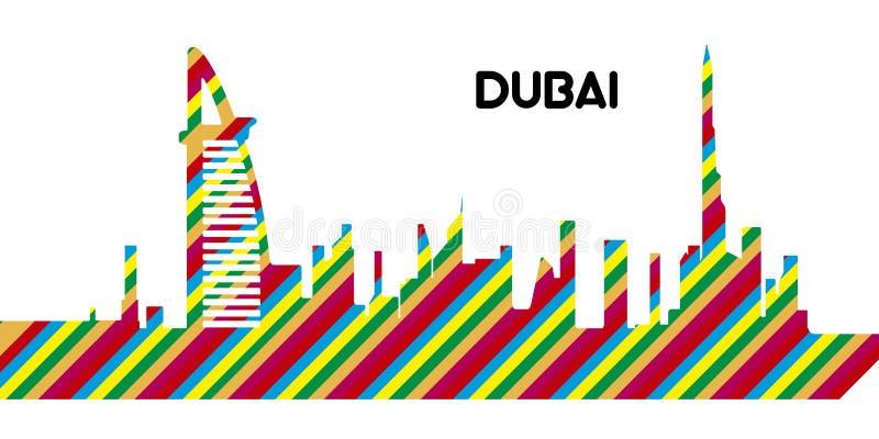 horizon du Dubaï illustration stock
