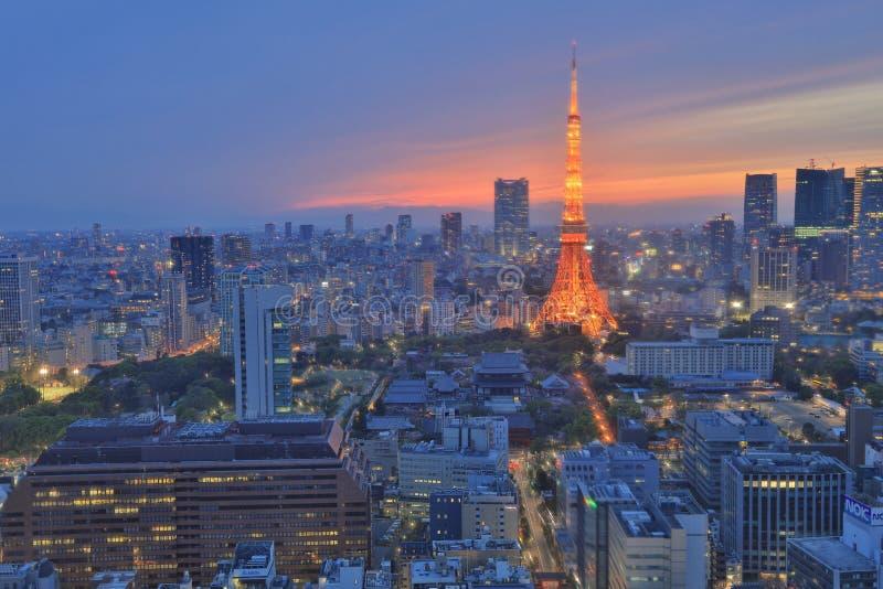 Horizon du sud de Tokyo comme vu du World Trade Center photographie stock libre de droits