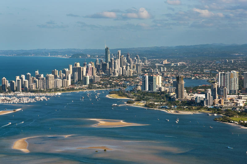 Horizon du sud-est de la Gold Coast Queensland images stock