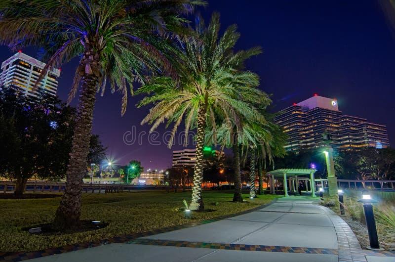 Horizon en rivierkustscènes in Jacksonville Florida stock afbeelding