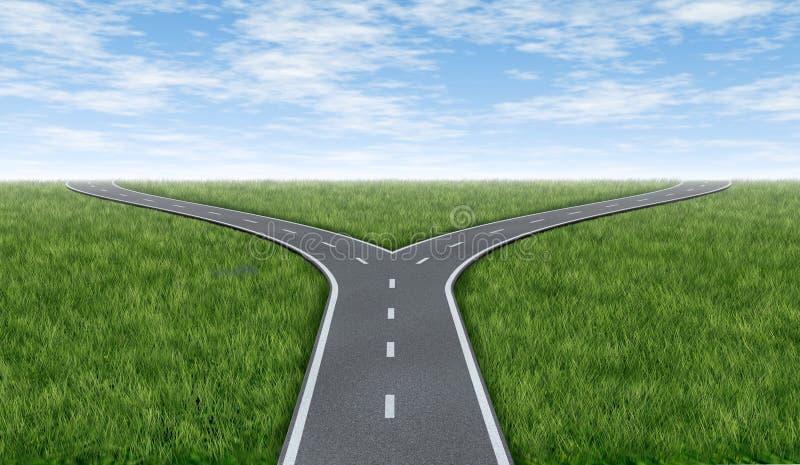 Horizon en travers de routes illustration stock
