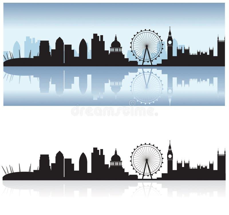 horizon et réflexion de Londres illustration libre de droits