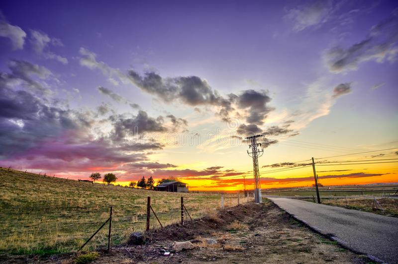 The horizon of the farm royalty free stock images