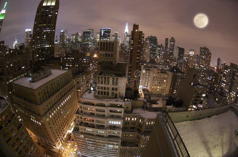 Horizon Fisheye de New York City image libre de droits