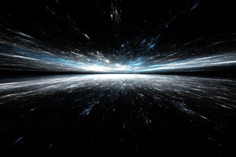Horizon futuriste abstrait illustration de vecteur