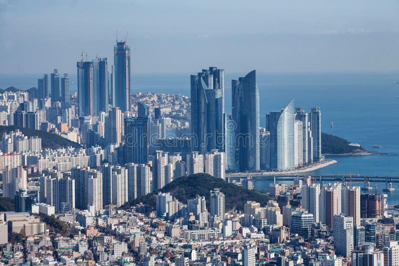 Horizon in Haeundae-District in Pusan, Korea royalty-vrije stock afbeelding