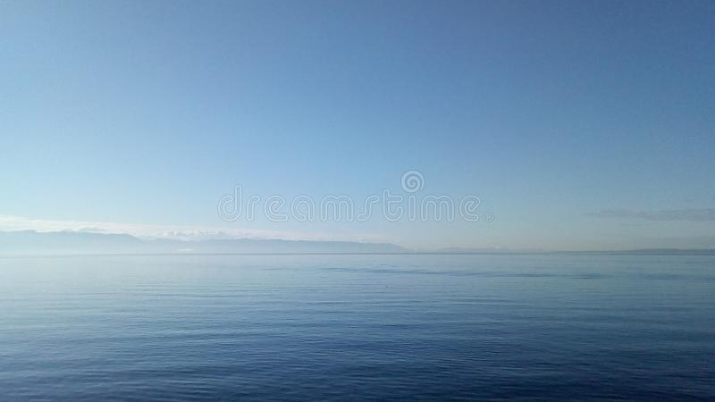 Horizon. Line in the sea stock images