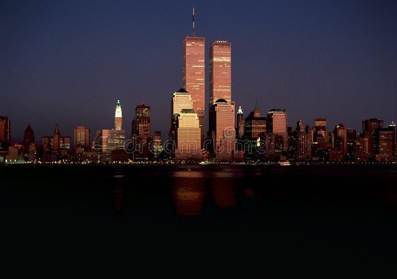Horizon initial de Manhattan images stock