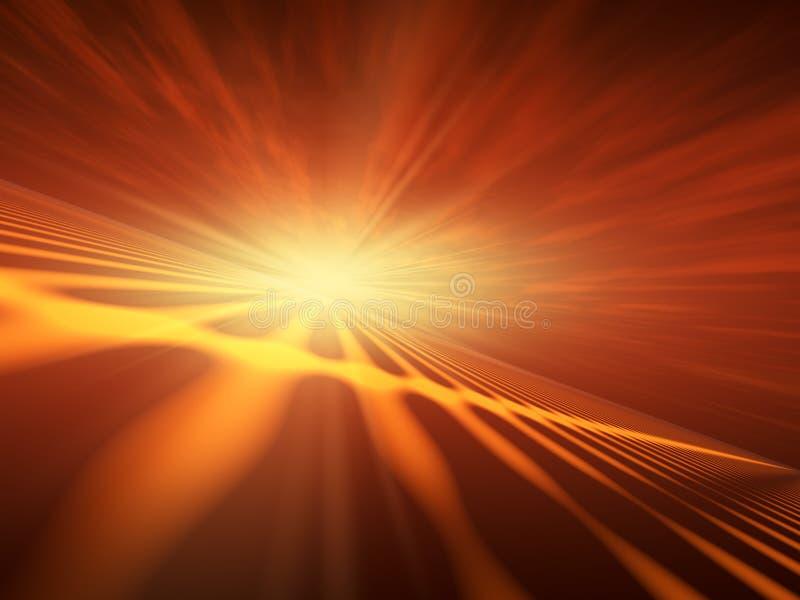 Horizon instantané de rouge d'étoile illustration stock