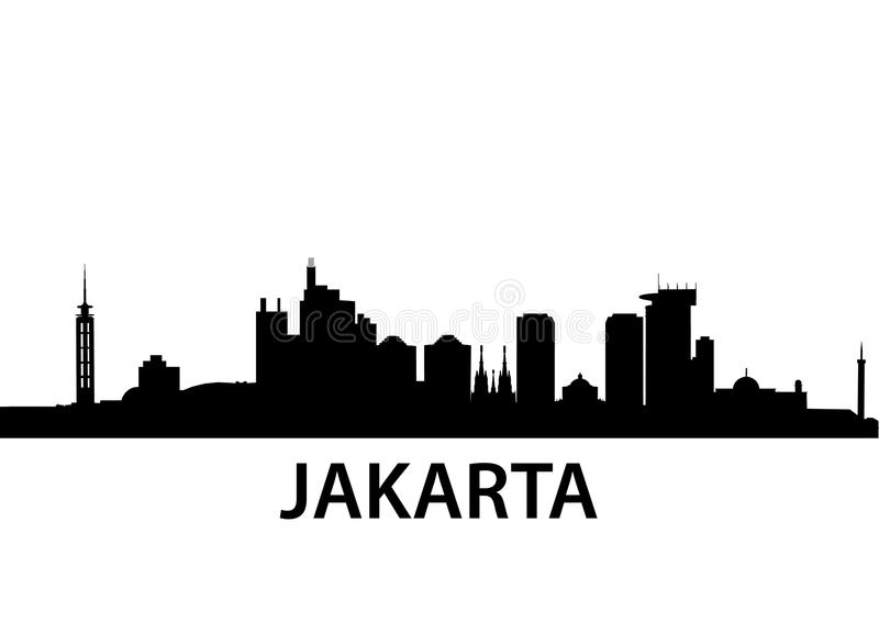 Horizon Jakarta illustration libre de droits