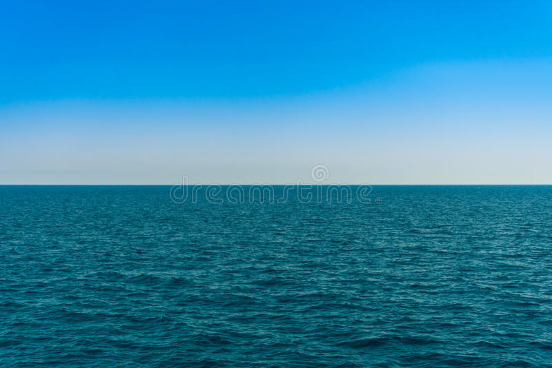 Horizon line - between sky and water. Sea of Turkey royalty free stock images