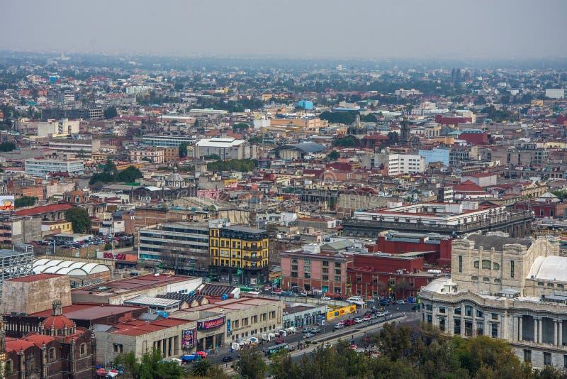 Horizon in Mexico-City, luchtmening van de stad royalty-vrije stock fotografie