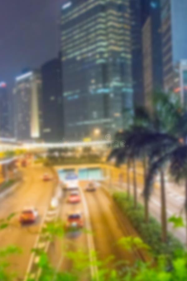 Horizon moderne de Hong Kong au crépuscule photo stock
