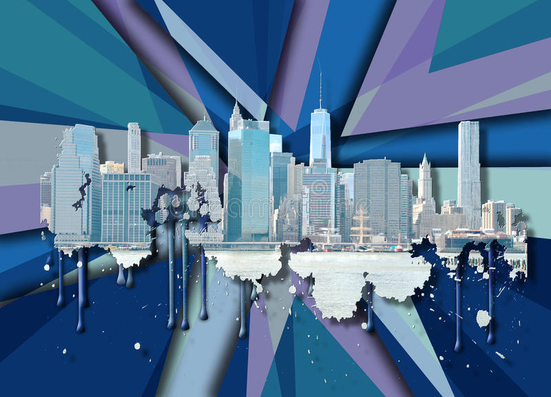 Horizon New York City illustration de vecteur