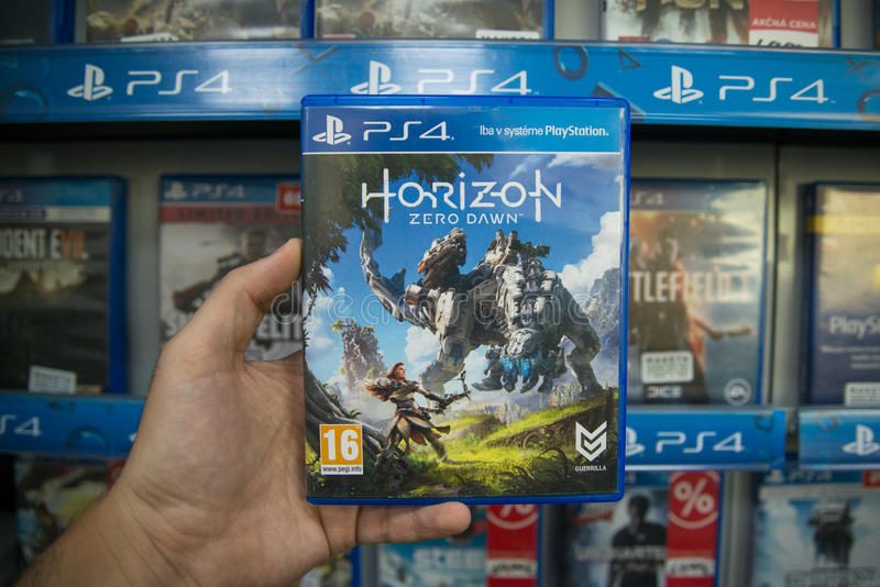 Horizon Nul Dawn stock afbeeldingen