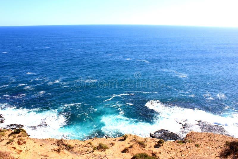 Horizon over blue sea royalty free stock photos