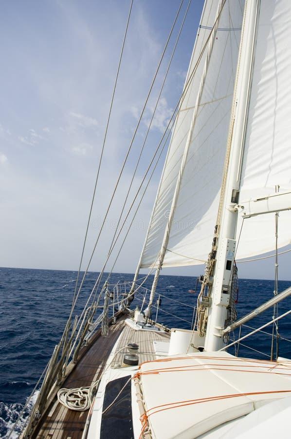 Horizon over het dek stock afbeelding