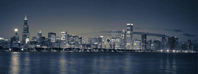 horizon panoramique de Chicago photos stock