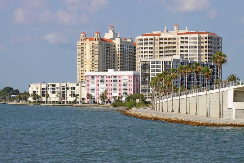 Horizon partiel de Sarasota, la Floride photographie stock libre de droits