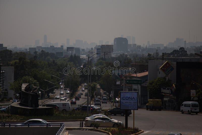 Horizon pollué de Mexico image libre de droits