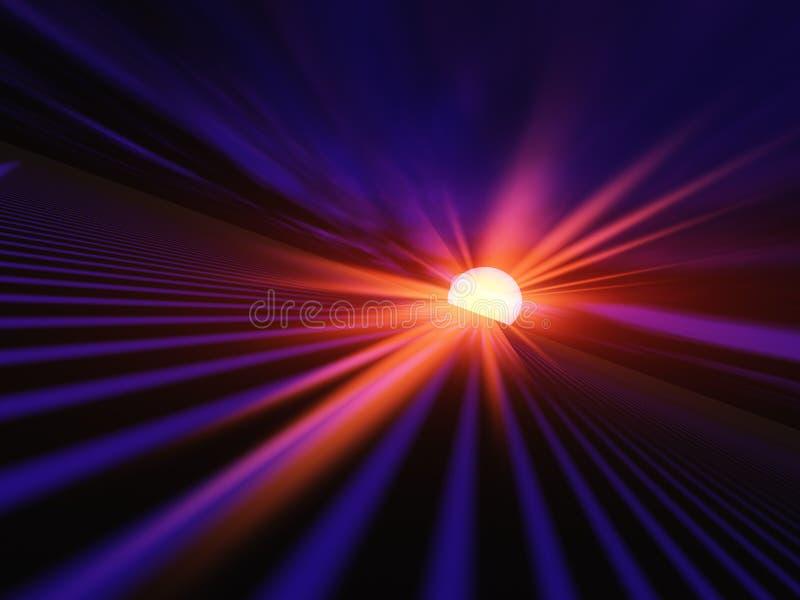 Horizon rouge d'aube illustration libre de droits