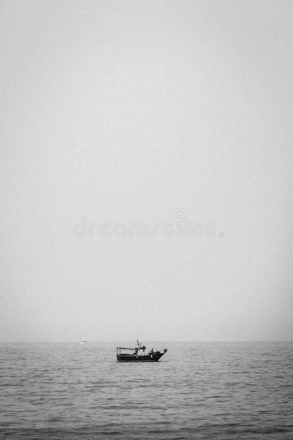 Horizon, Sea, Black And White, Calm royalty free stock images