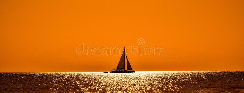 Horizon, Sky, Orange, Calm royalty free stock image