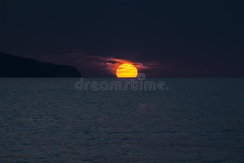 Horizon, Sky, Sea, Geological Phenomenon royalty free stock photo