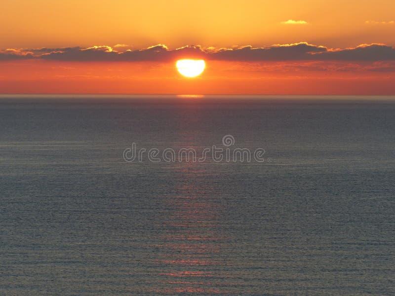 Horizon, Sky, Sunrise, Sea stock photo