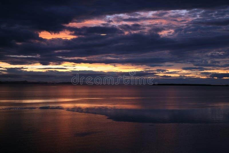 Horizon, Sky, Sunset, Reflection stock image