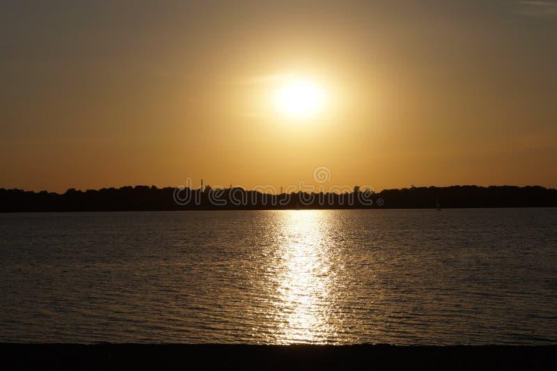 Horizon, Sky, Sunset, Reflection royalty free stock image