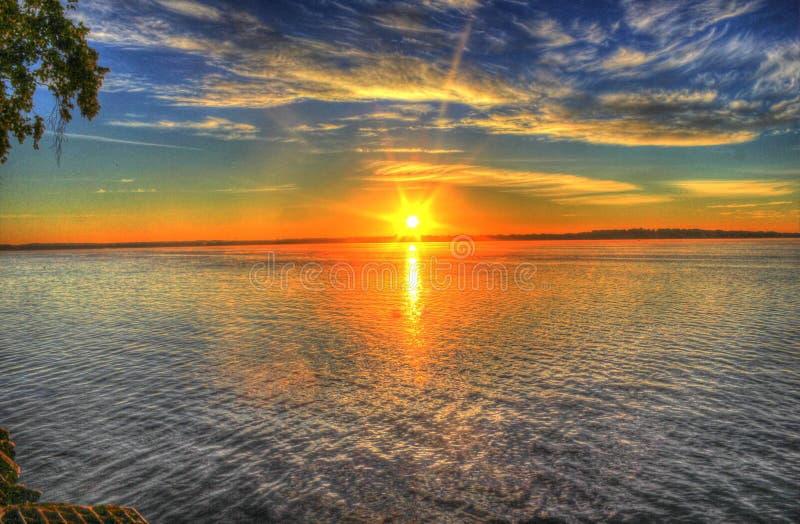 Horizon, Sky, Sunset, Reflection royalty free stock photo