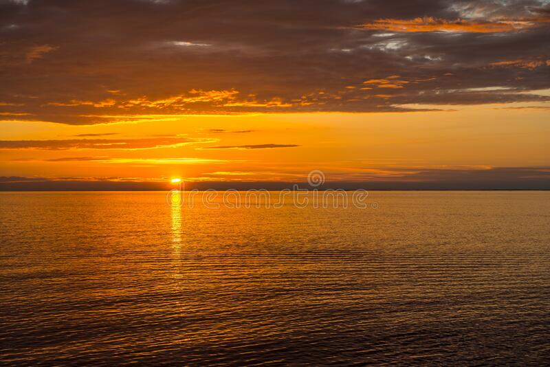 Horizon, Sky, Sunset, Sea royalty free stock image