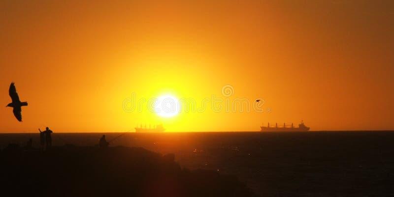 horizon statków zdjęcia stock