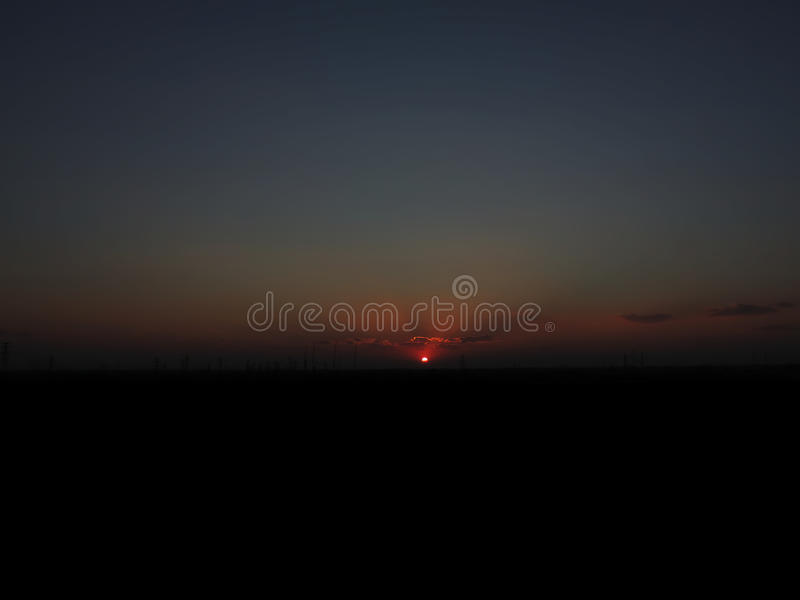 Horizon with Sun royalty free stock images