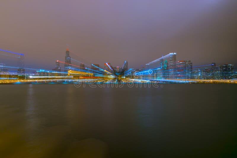 Horizon trouble de Chicago images libres de droits