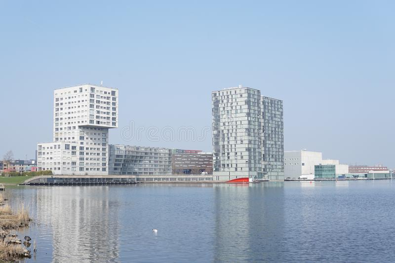 Horizon van Almere, Nederland stock foto