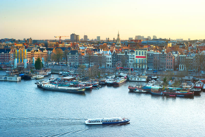 Horizon van Amsterdam royalty-vrije stock foto's