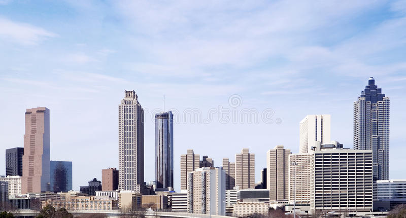 Horizon van Atlanta, Georgië stock afbeelding