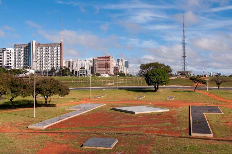 Horizon van Brasilia royalty-vrije stock afbeelding