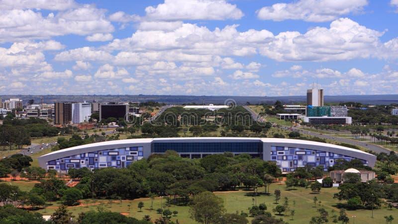 Horizon van Brasilia op een zonnige dag stock afbeeldingen